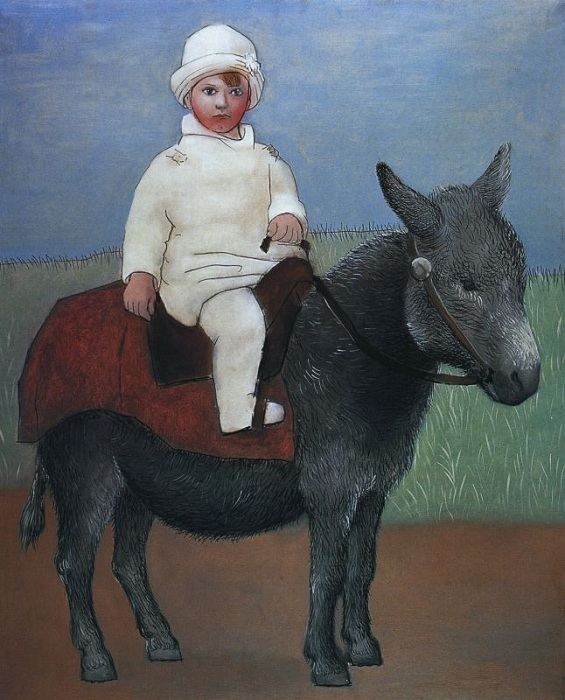 Пауло на ослике. (1923). Автор: Пабло Пикассо.