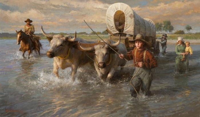 «В брод через реку». Автор: Morgan Weistling.