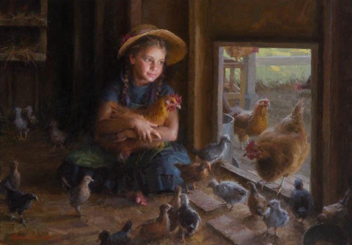 «В курятнике». Автор: Morgan Weistling.