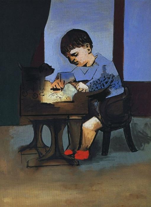 «Пауло рисует» (1923). Автор: Пабло Пикассо.