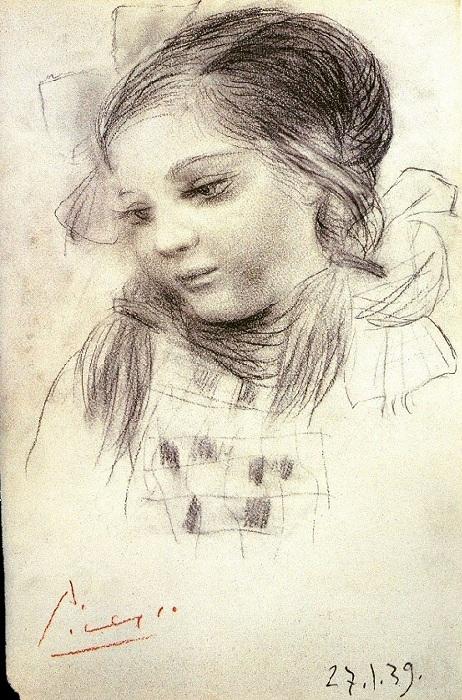 Пабло Пикассо, «Портрет дочери Майи», 1939.