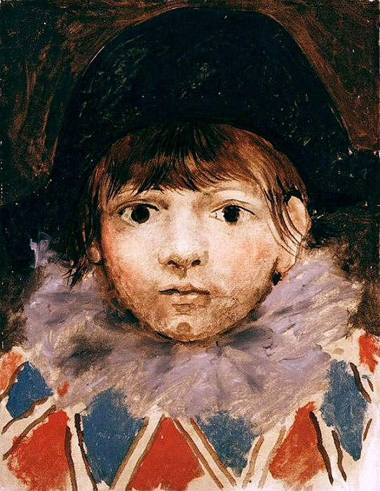 «Сын художника в костюме Арлекина (Портрет Пауло)». Автор: Пабло Пикассо.