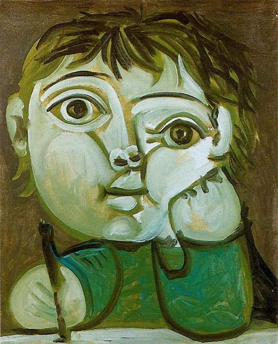 Портрет Клода.  Автор: Пабло Пикассо.