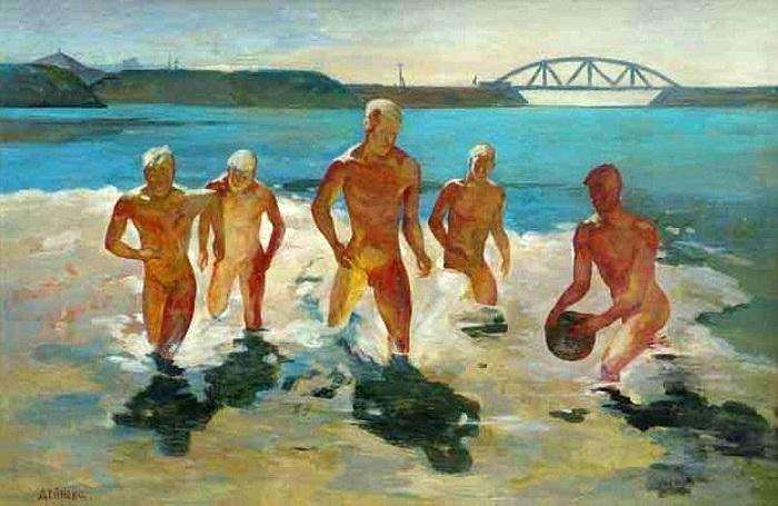 «Обеденный перерыв в Донбассе». (1935 год). Автор: Александр Дейнека.