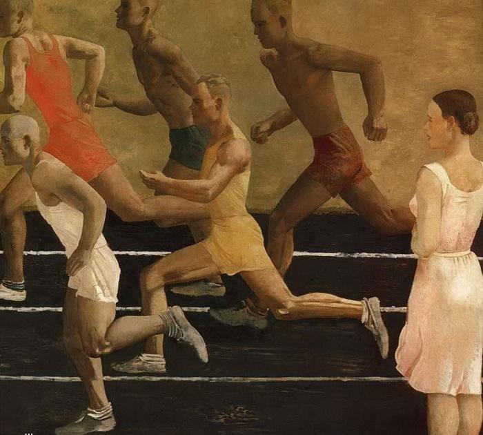 «Бег». (1932 год). Автор: Александр Дейнека.