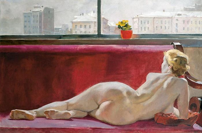 «Натурщица». (1936 год). Автор: Александр Дейнека.