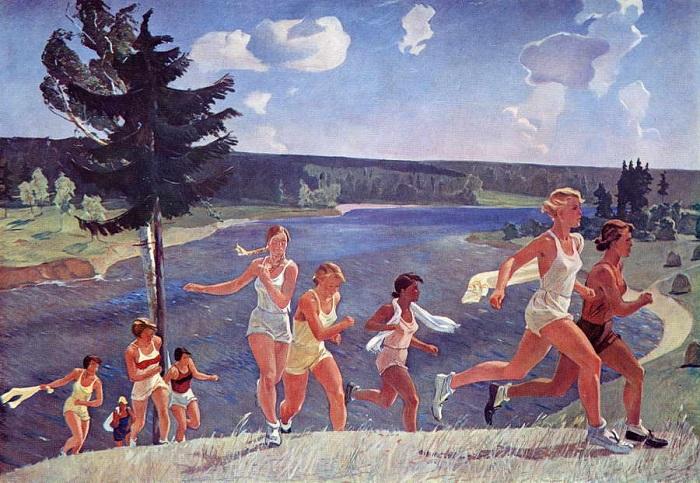«Раздолье». (1944 год). Автор: Александр Дейнека.
