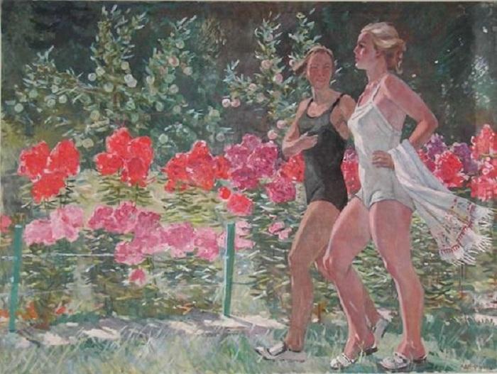 «Выходной день». (1949 год). Автор: Александр Дейнека.