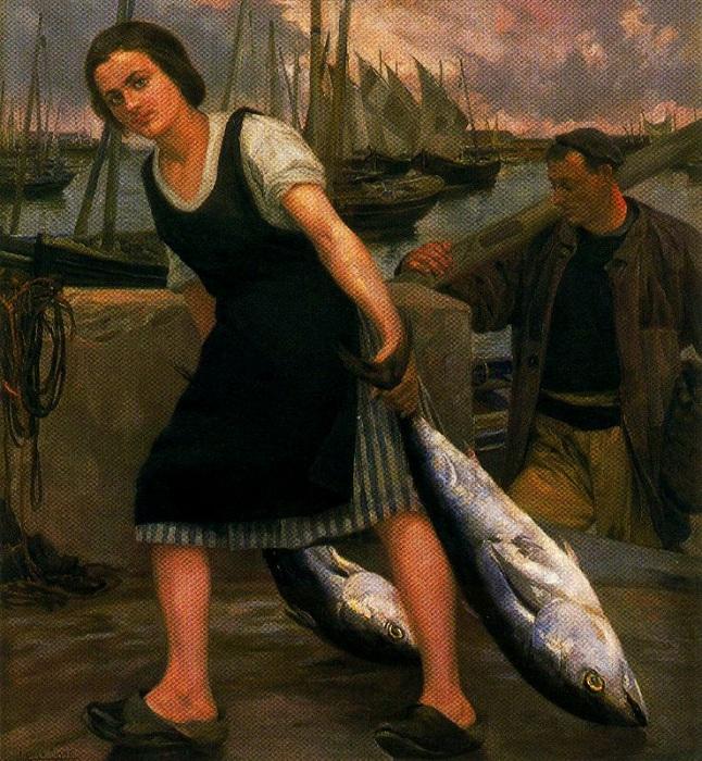 «Дочь рыбака». Автор: Сальвадор Диас Игнасио Руис де Олано.