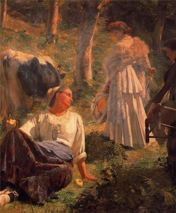 «Зависть». (1905 год). Автор: Сальвадор Диас Игнасио Руис де Олано.