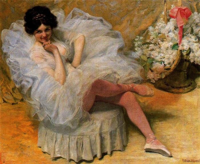 «Балерина». Автор: Сальвадор Диас Игнасио Руис де Олано.