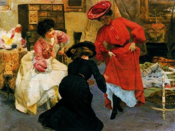«Портниха». (1902 - 1905 г.г.). Автор: Сальвадор Диас Игнасио Руис де Олано.