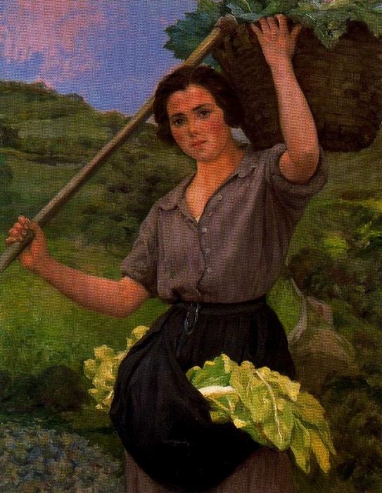 «Женщина в поле». Автор: Сальвадор Диас Игнасио Руис де Олано.