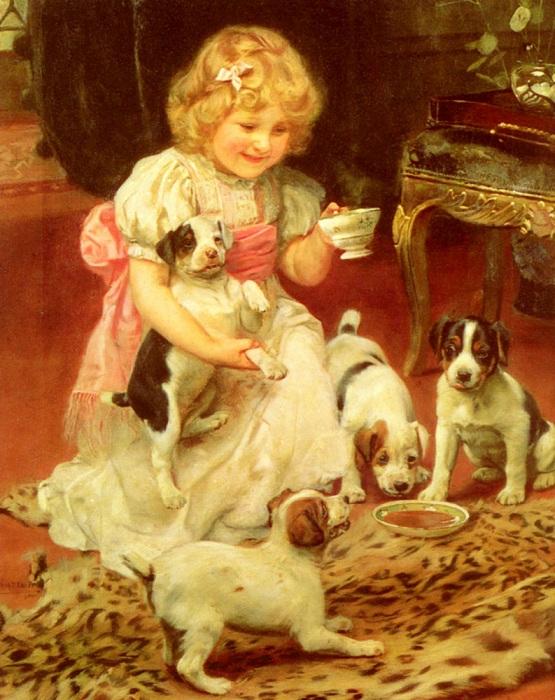 «Вечерний чай». Автор: Артур Элсли.