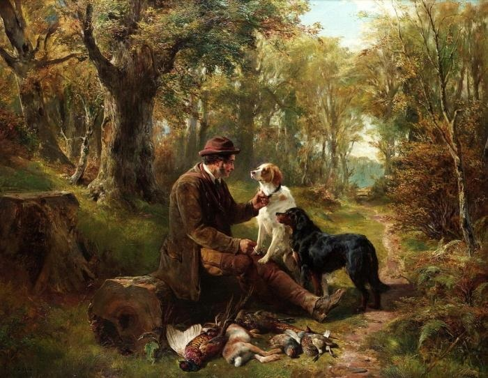 «После охоты». Автор: John Sargent Noble