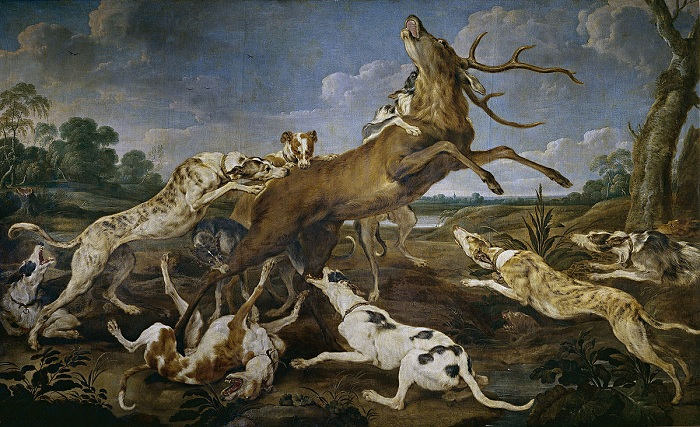 «Охота на оленя». Автор: Paul de Vos Staghunt.