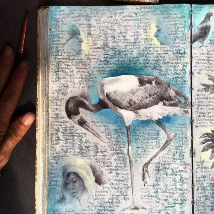 Оригинальный скетчбук от Дины Бродски.