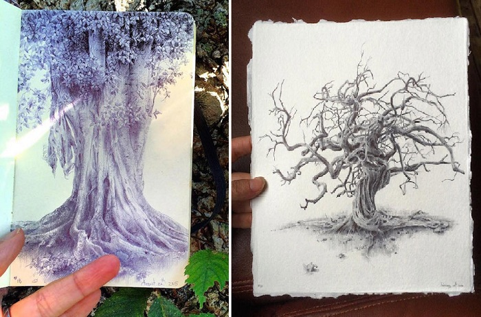 Из серии «Тайная жизнь деревьев». Автор: Дина Бродски.
