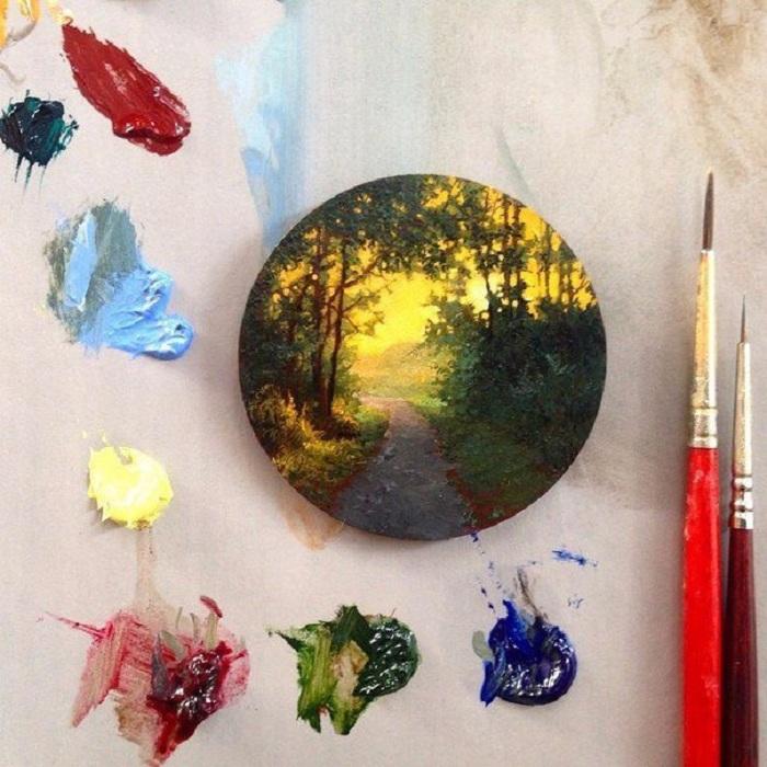 Миниатюрные пейзажи от Дины Бродски.