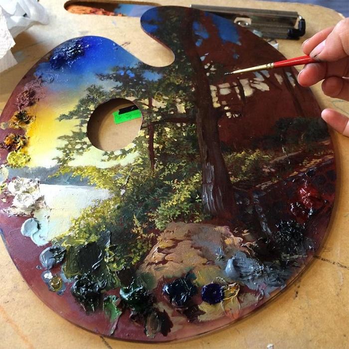 Картина на палитре от Dina Brodsky.