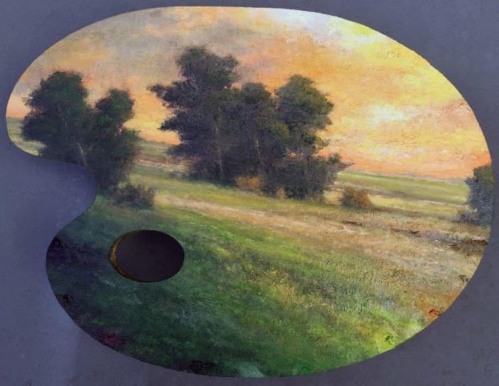 Картина на палитре от Shawn Kruegera .
