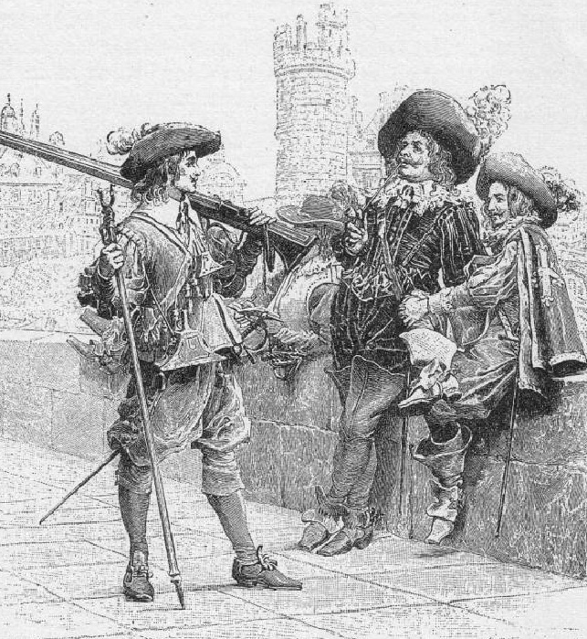 «Д'Артаньян и мушкетеры». (1894). Автор: Морис Лелуар.