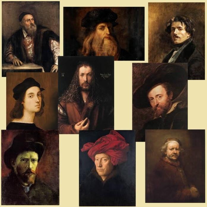 Великие художники разных эпох.