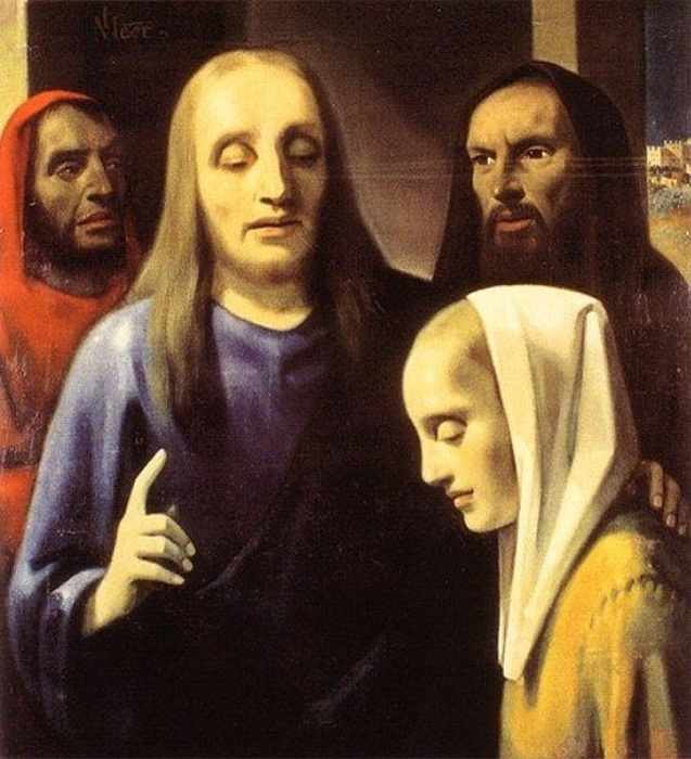 «Христос и блудница». Подделка под Яна Вермеера. Автор: Антониус ван Меегерен.