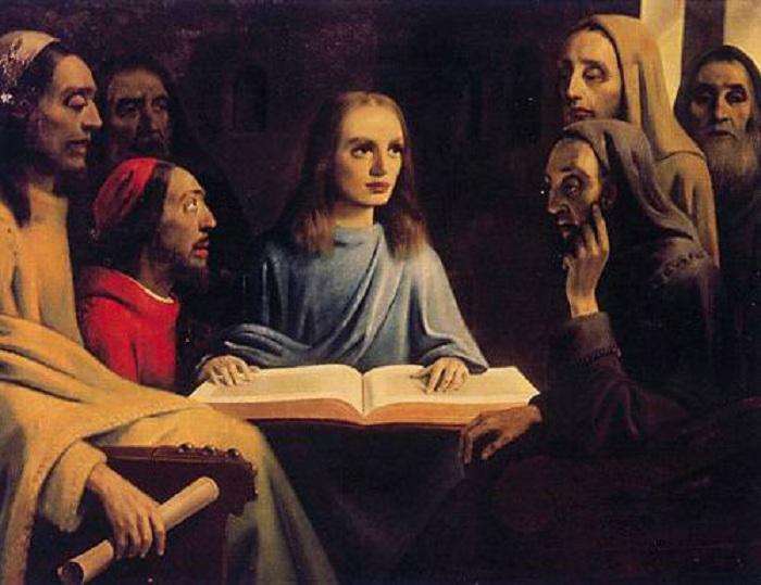 «Молодой Христос, проповедующий в храме». Автор: Антониус ван Меегерен.