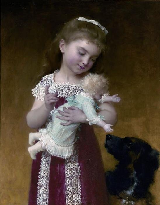 «Девочка и кукла». Автор: Эмиль Мунье.