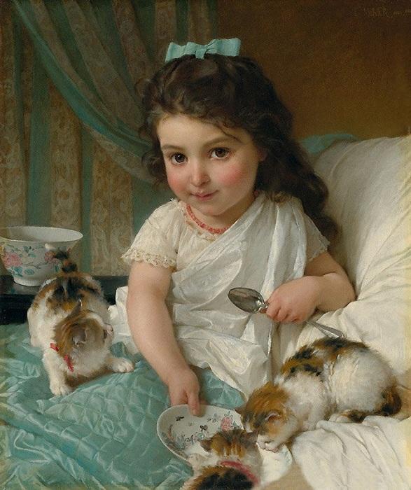 «Девочка с котятами.»
