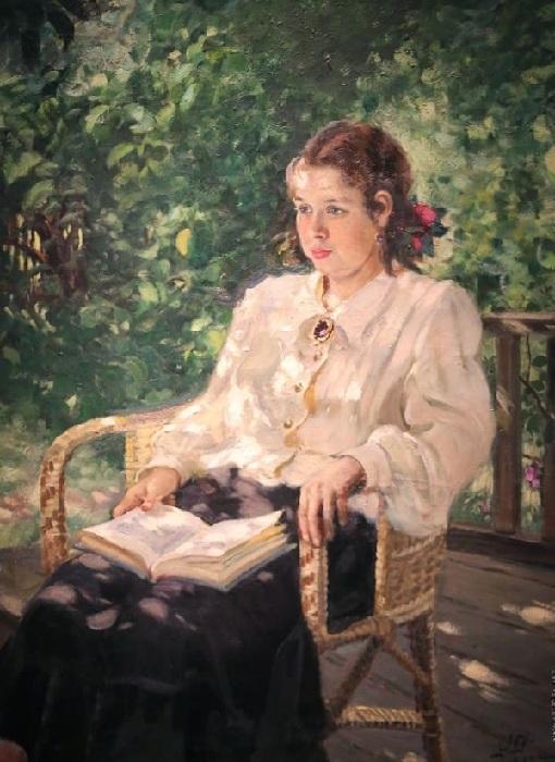 «Портрет дочери». Автор: А. Герасимов.
