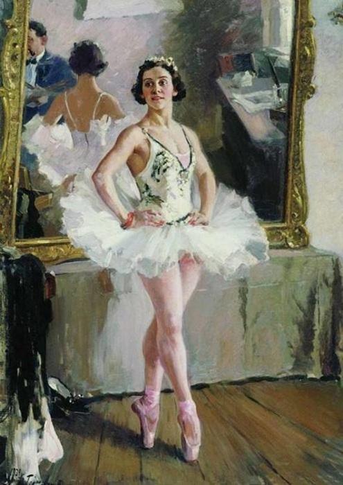 «Портрет балерины О.В.Лепешинской» Автор: А. Герасимов.