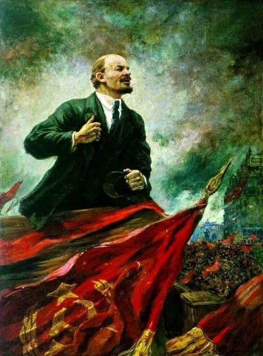 «В. И. Ленин на трибуне». Автор: А. Герасимов.