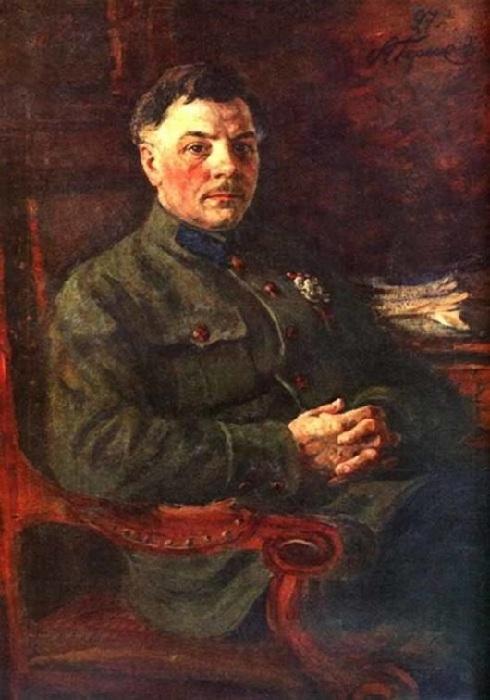 «Портрет К.Е. Ворошилова». Автор: А. Герасимов.