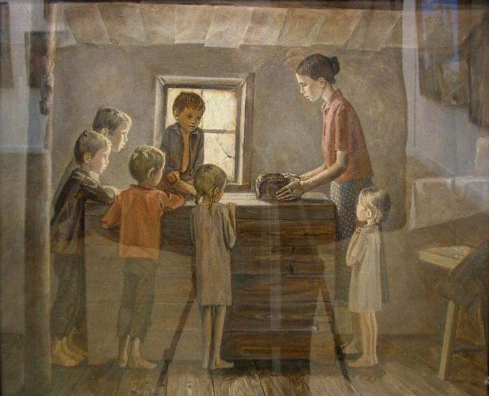 «Хлеб». Из серии Дети войны. (1985г.) Автор: Жабский Алексей Александрович.