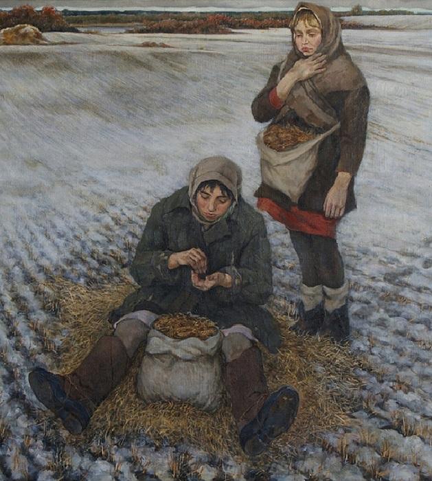 «Колоски». (Трудные годы). (1985 г.). Автор: Алатов Станислав Иосифович.