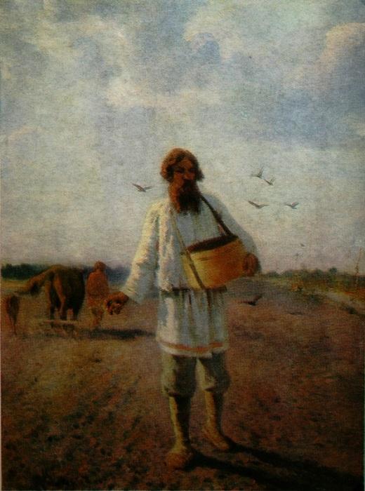 «Сеятель». (1888г.) Автор: Григория Мясоедов.