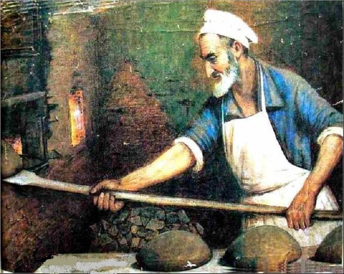 «Еврей-пекарь».(1921 г.) Автор: Пэн Иегуда Моисеевич.