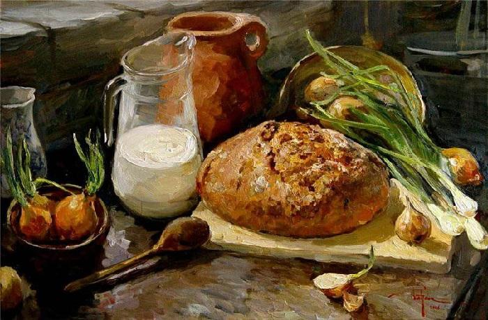 «Если хлеб на стол, то и стол - престол, а хлеба ни куска, так и стол-доска». Автор: Кирилл Дацук.