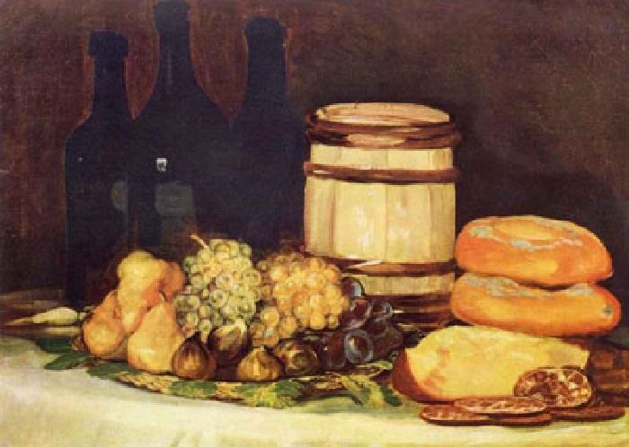 «Натюрморт с хлебом». Автор: Франсиско Гойя.