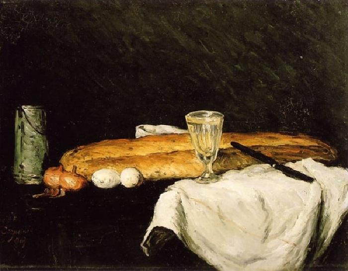 «Хлеб и яйца». Автор: Поль Сезанн.