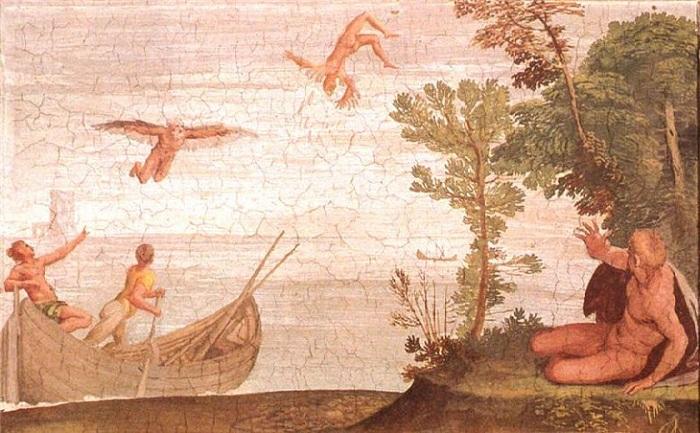 «Падение Икара. Национальный музей di Capodimonte, Неаполь. Автор: Карло Сарачени.