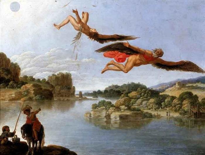«Падение Икара». Автор: Carlo Saraceni.
