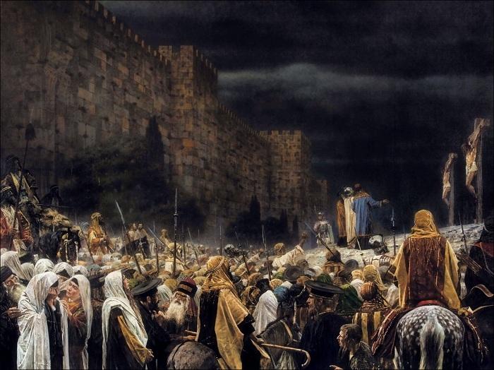 Распятие на кресте у римлян. Автор: Василий Верещагин.