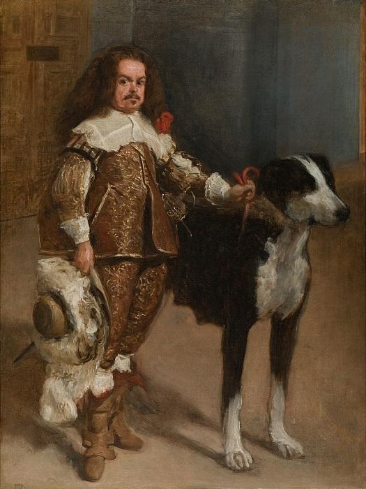 «Придворный карлик с собакой». Автор: Диего Веласкес.