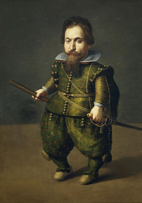 «Портрет карлика». (1616). Автор: Хуан ван дер Амен.