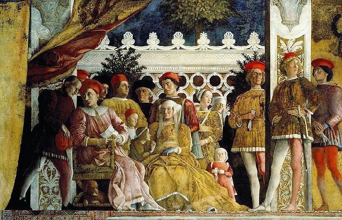 «Двор Мантуи». (1471-74гг.) Автор: Андреа Мантенья.