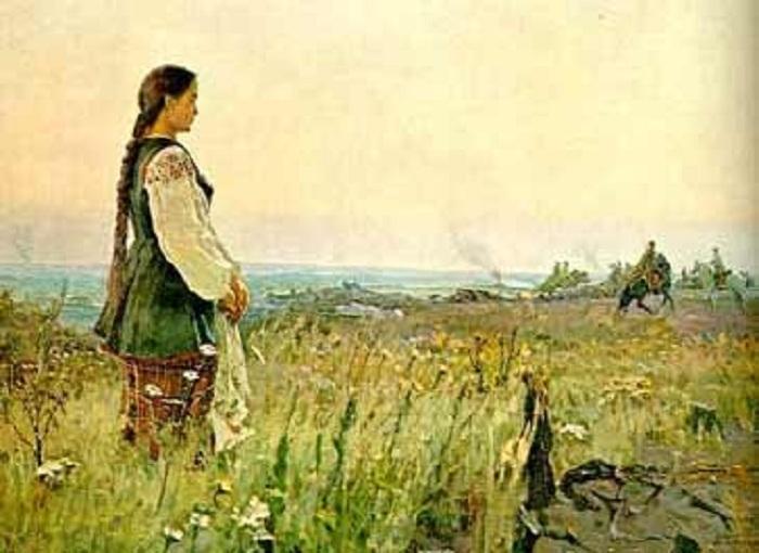 «Їхав козак на війноньку». Автор: М. И. Кривенко.