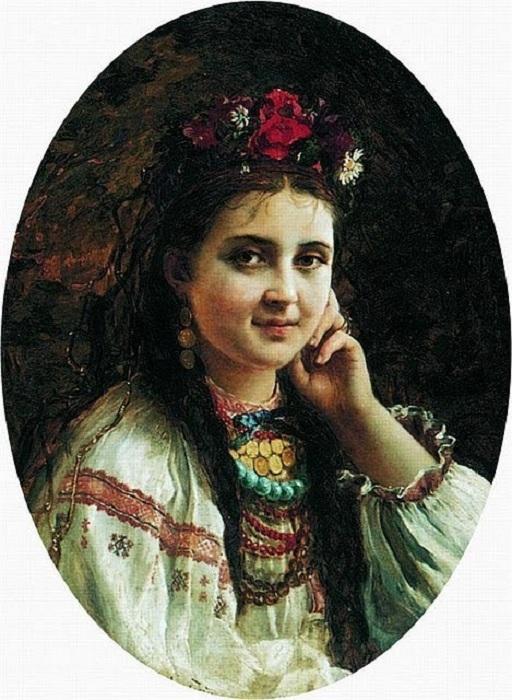 «Украинка». (1884). Автор: Константин Маковский.